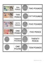 14 free esl coins worksheets