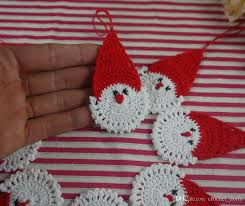 crochet santa claus decorations hanging