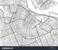 Map Of Amsterdam Black White Vector City Map Amsterdam Stock Vector 561416023