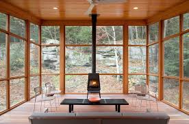 lopi wood stoves vogue new york rustic sunroom remodeling ideas