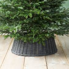 wicker basket tree skirt black tree skirts and holidays