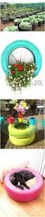 unusual garden ideas tire flower bed birdcages