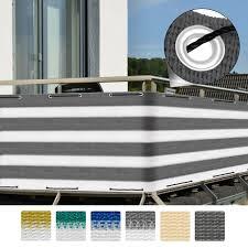 balkon abdeckung balkon sichtschutz 500cm div farben u muster