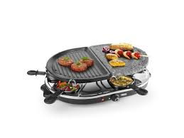 princess 8 oval stone u0026 grill party 162710 gas grill