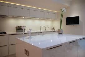 kitchen island worktops high gloss white kitchen with white quartz worktops haywards