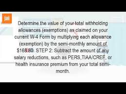 W 4 Withholding Table How Do You Calculate Federal Withholding Youtube