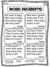 first grade math printable word problem worksheets first grade
