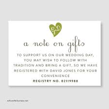 bridal registry list wedding invitation registry wordi on wedding registry card wordi