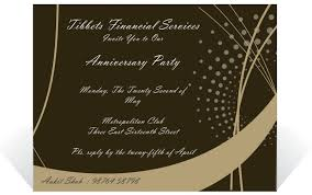 Party Invitation Card Template Nice Brown Background Corporate Anniversary Invitation E Card
