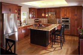 recycled countertops cherry wood cabinets kitchen lighting