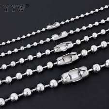 stainless ball chain necklace images Necklace 1 5mm 2mm 2 4mm 3 2mm 4mm 5mm stainless steel round ball jpg