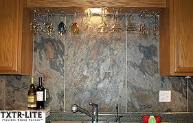 Stacked Stone Veneer Backsplash by Kitchen Exquisite Stone Veneer Backsplash Stacked Stone