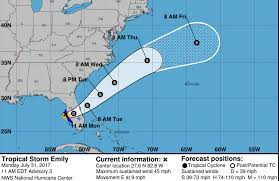 Map Of Marco Island Florida by Tropical Storm Emily Path Update Storm Track Weather Models