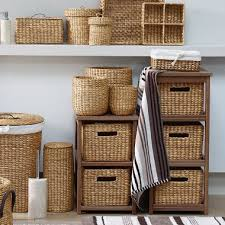 Wicker Bathroom Storage by Enchanting Brown Bathroom Storage On Home Decoration Ideas