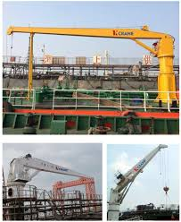swl 20t top quality hydraulic boat lifting cargo ship jib crane