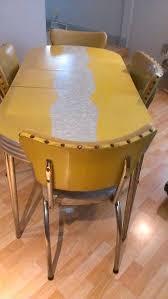 retro yellow kitchen table retro chrome kitchen table nearly like grandmothers kitchen table