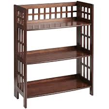 fretted tuscan brown low folding shelf pier 1 imports