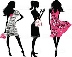 cocktail silhouette png fashion silhouettes in pink and black stock vector art 165788896