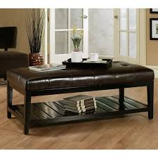 Narrow Ottoman Table Leather Ottoman Storage Coffee Table Combo Large Small