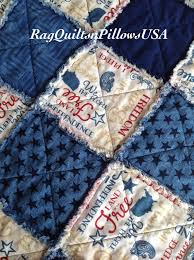 patriotic rag quilted pillow cover americana throw pillow