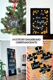 14 cute diy chalkboard christmas crafts shelterness