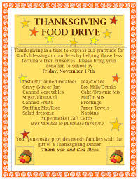 thanksgiving food drive st the apostle