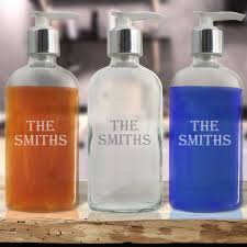 personalized soap personalized glass soap dispenser