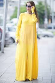 yellow cotton jumpsuit for womens plus size jumpsuit zipper