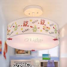 Drum Ceiling Lighting Chic Robot Pattern Drum Shaped Ceiling Light