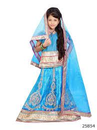 attractive pink kids wear lehenga choli