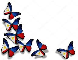 Philippines Flag Philippine Flag Butterflies Isolated On White Background U2014 Stock