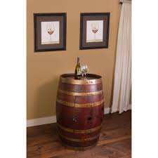 Wine Barrel Home Decor Pet Food Storage Cabinet Arafen
