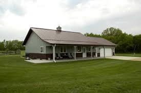 Morton Building Homes Floor Plans Inicio De Metal W Porche Y Garaje 8 Fotos Casas De Metal De