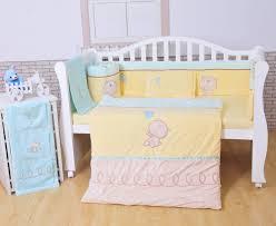 new style 7pcs cotton plush baby cot bedding set newborn cartoon
