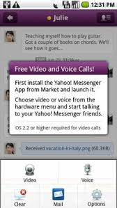 yahoo messenger app for android yahoo messenger in apk free communication app for