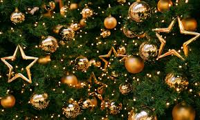 wallpaper tree decorations balloons stars gold new year