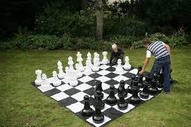 Amazon Chess Set Amazon Com Giant Chess Set With Giant Mat Garden U0026 Outdoor