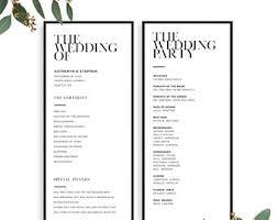 wedding programs printable wedding programs etsy