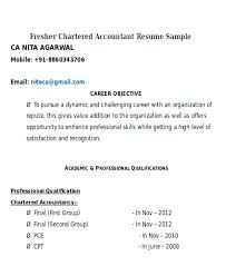 chartered accountant resume sample resume pdf u2013 athousandwords us