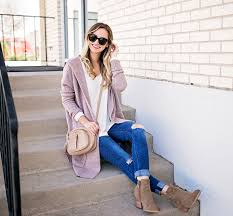Blush Pink Cardigan Dusty Pink Cardigan U0026 Ankle Booties Livvyland Austin Fashion
