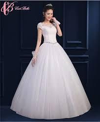 high waist wedding dress guangzhou factory princess cap sleeve slim fit gown high