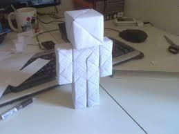 origami steve minecraft guy by nakwada on deviantart