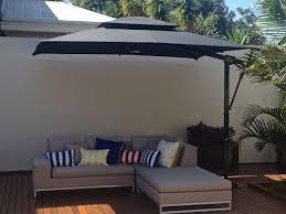 black patio umbrella interior design