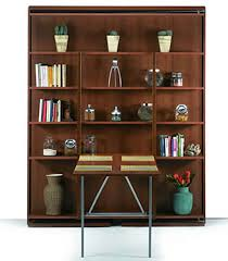 Wall Bookcase With Doors Revolving Bookcase Italian Wall Bed Expand Furniture