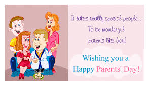 happy parents day family greeting card free coloring pages