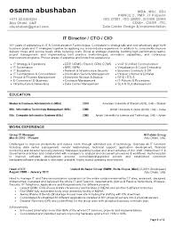 Resume For It Support Cio Sample Resume By Executive Resume Writer Chief Sample Resume