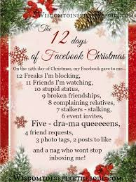 daveswordsofwisdom com the 12 days of facebook christmas