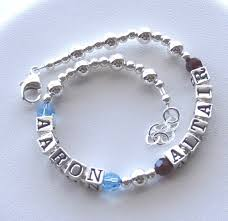 mothers bracelets with birthstones sterling silver bracelet two 2 children name bracelet