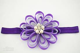 satin ribbon flowers trail order 4 grosgrain ribbon flowers headbands party