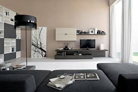 Decorate Living Room Black Leather Furniture Black Leather Sofa And Square Red Yellow Cushions Plus Black